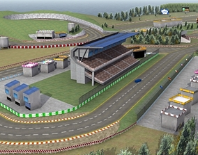 3D asset Race Track Game