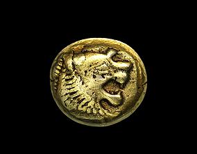 3D Sardeis Electrum Coin