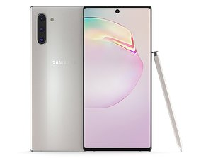 Samsung Galaxy Note 10 Aura White 3D model