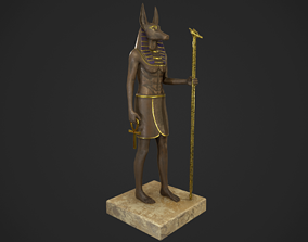 3D model Anubis statue