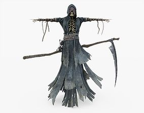 3D model Grim Reaper with Scythe Rigged