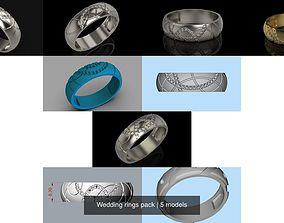 3D Wedding rings pack