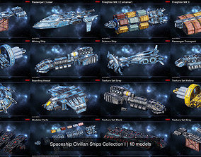 Spaceship Civilian Ships Collection I 3D PBR