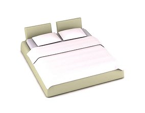 Modern Double Bed comfortable 3D