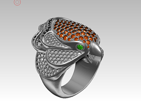 3D print model Eagle ring jewelry
