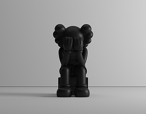 3D printable model Passing through - by Kaws - figure - 1
