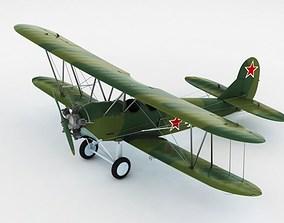 Po-2 Polikarpov Soviet biplane 3D