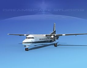 3D model Fokker F-60 Everette Charter