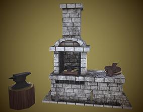 3D model Blacksmiths furnace