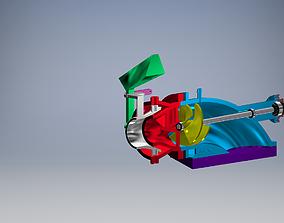 WATER JET PROPULSION 60MM 3D printable model