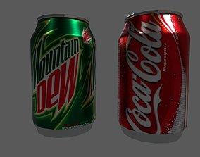Coke Tin 3D asset