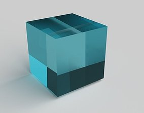 Glass Cube Turquoise 3D