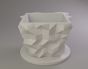 Flower pot vegetation 3D print model
