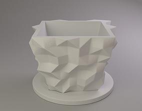 Flower pot vegetation 3D print model