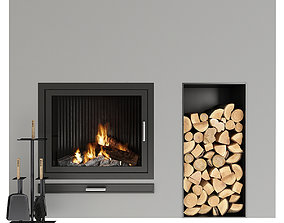 Fireplace hot 3D model
