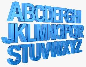 Alphabet - Subdivision 3D asset