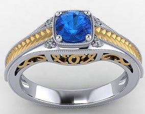 Engagement Ring milgrain 3D print model