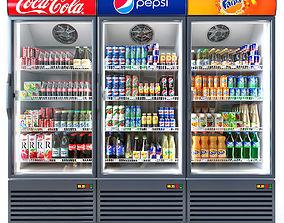 Coca-cola fridge 3D model products
