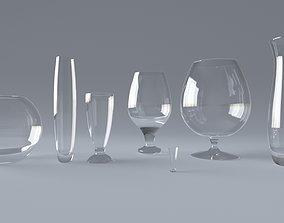 goblet snifter wineglass wine glass 3D