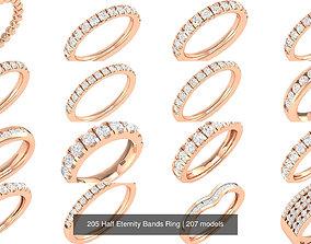 205 Half Eternity Bands Ring 3D model