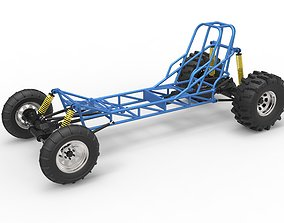 Mud dragster chassis 3D model