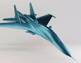 Su-34 aircraft 3D print model