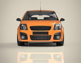 Hatchback car 3D model luxury