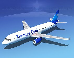Airbus A320 LP Thomas Cook Airlines 3D asset rigged