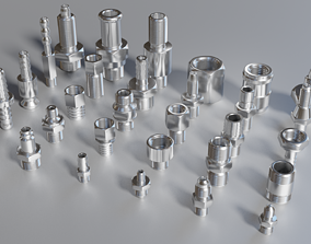 Collection of fittings 3D model