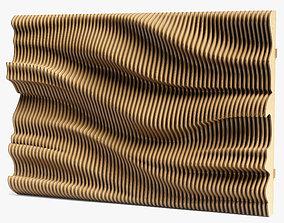 wave parametric wall 05 3D model