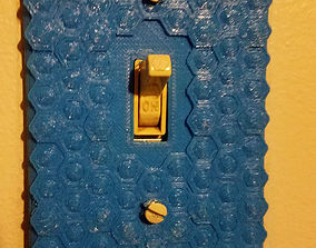 Honeycomb Lightswitch Cover 3D printable model