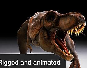 animated Jurassic Park Tyrannosaurus Rex 3D Model