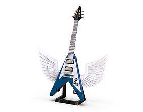 miniature 3D Guitar - Gibson Flying V