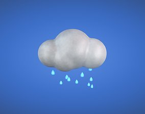 Rainfall - Weather Icon 3D asset