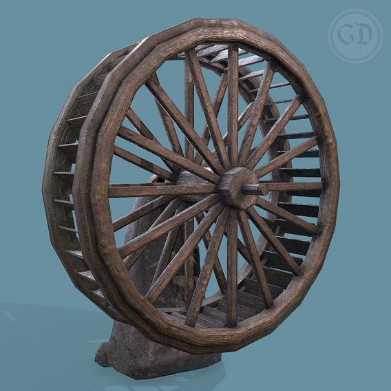Water Wheel Wooden