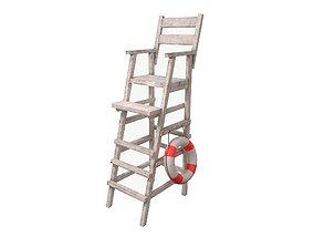 3D model PBR Lifeguard Chair