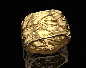 Ring with dolphins 3D print model
