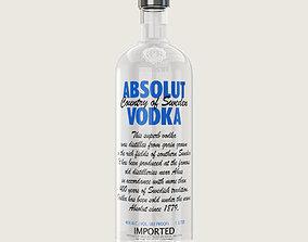 3D asset Absolut Vodka Bottle