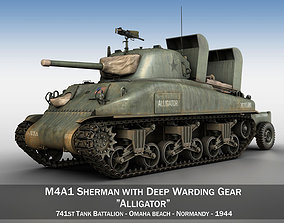 3D model M4A1 Sherman - Alligator