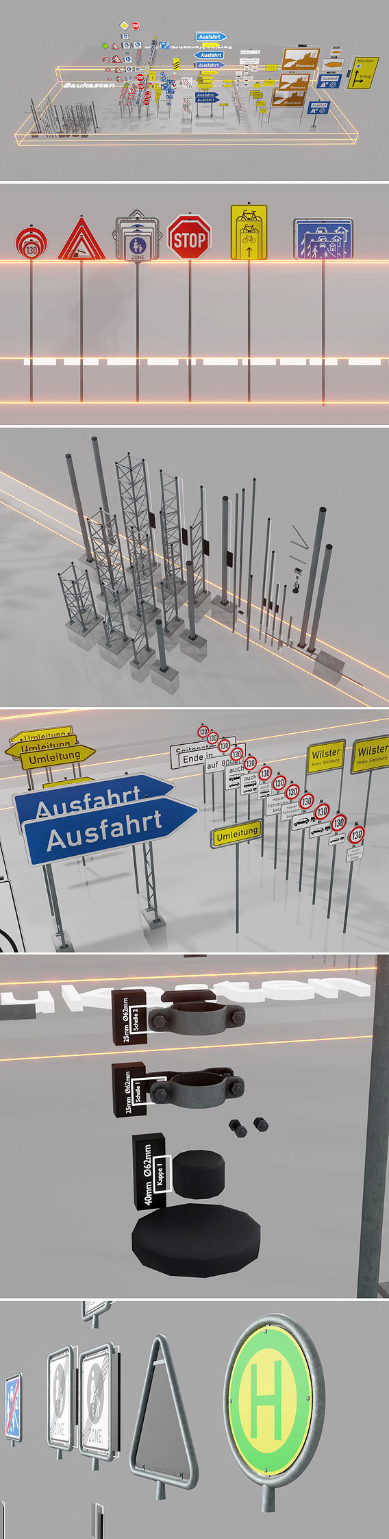 Modular Traffic Sign Package 2.0