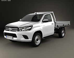 Toyota Hilux Single Cab Alloy Tray SR 2015 3D model