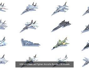 USA and Nato Jet Fighter Aircrafts Bundle 3D model