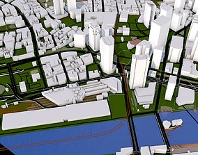 3D asset Boston City