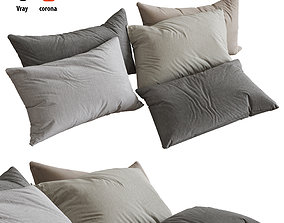 cloth 3D model Pillows set 05