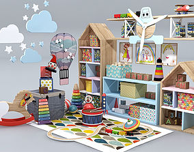 3D Children Room Furniture Set
