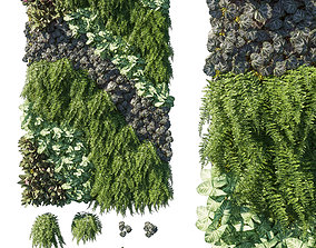 3D model Vertical Garden Green Wall 11