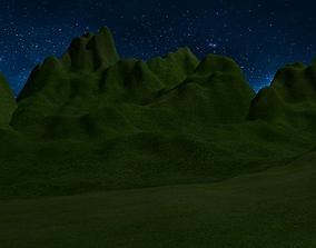 Mountains 3D asset