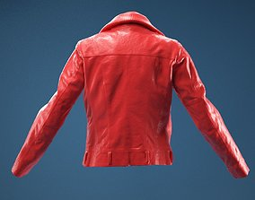 Collar Leather Jacket 3D