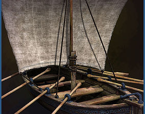 Medieval Boat 3D asset