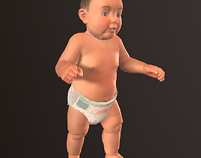 Game ready model of Baby 3D asset